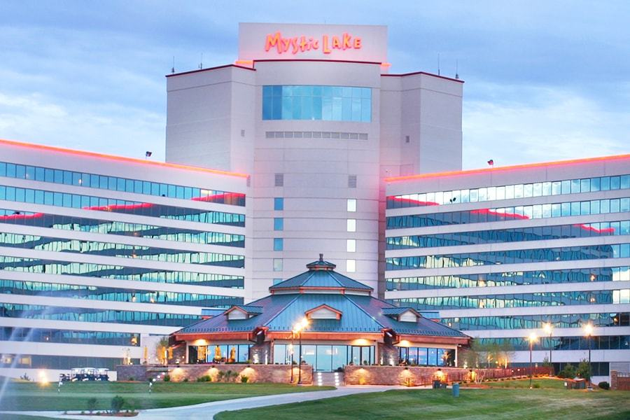 Mystic lake casino property map
